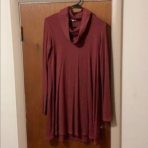 Cool neck dress